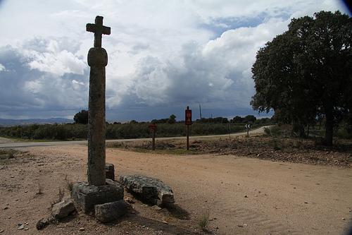 Cruz de la Figalina, entre Fornillos y PInilla de Fermoselle