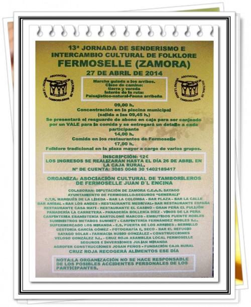 Cartel Senderismo Fermoselle 2014