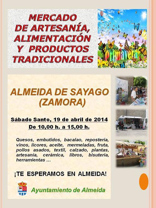 Mercado de artesanía, alimentación y productos tradicionales en Almeida de Sayago