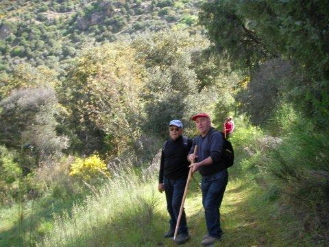 Dos senderistas en plena ruta, Fermoselle