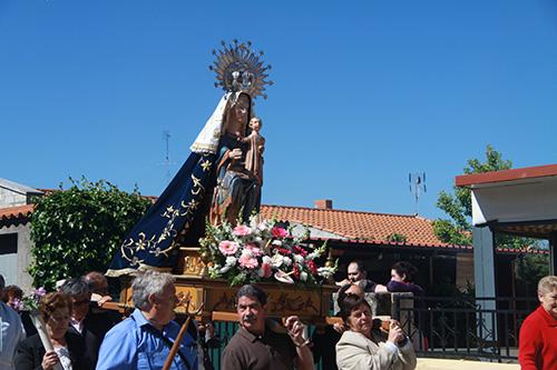 Virgen del Castillo en procesión, Fariza, (Zamora)