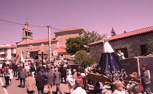 Virgen del Castillo de regreso a la parroquia de Fariza