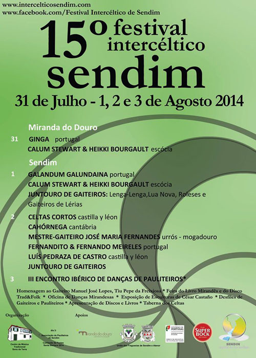Cartel Festival Intercéltico de Sendim