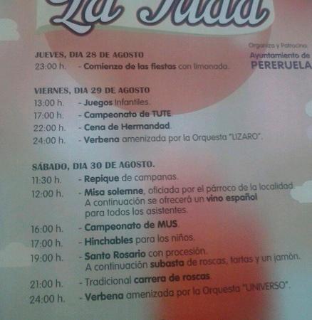 Cartel Fiestas de La Tuda (Zamora)