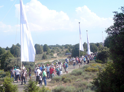 Procesión de la Virgen del Castillo en Fariza (Zamora)