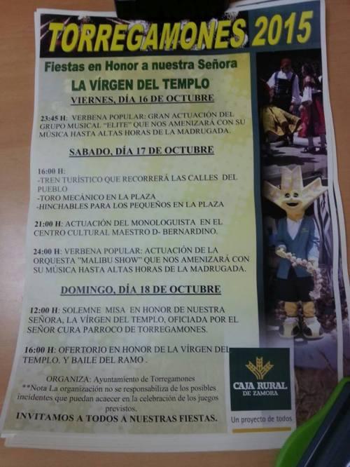 Programa Fiestas Torregamones / Fuente Facebook Bar la Tortuga