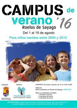 Campamento de Verano en la piscina de Roelos / Foto de Loreto Cibanal