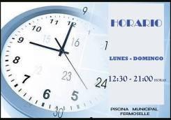 Horario de la Piscina de Fermoselle / Fuente: Facebook