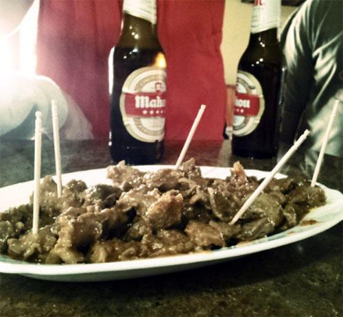 tapa de cachuela en el bar chitote, casa amalia de Bermillo de Sayago (Zamora)