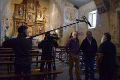 Grabando dentro de la iglesia / Foto de Javier Pérez Andrés