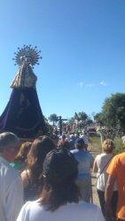 Romeros acompañan a la Virgen del Castillo desde Fariza hasta su ermita - Fuente: Luis Garrido