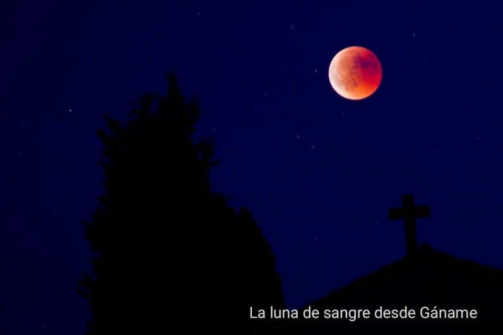 Luna de sangre del 27 de julio de 2018 vista desde la comarca de sayago en zamora