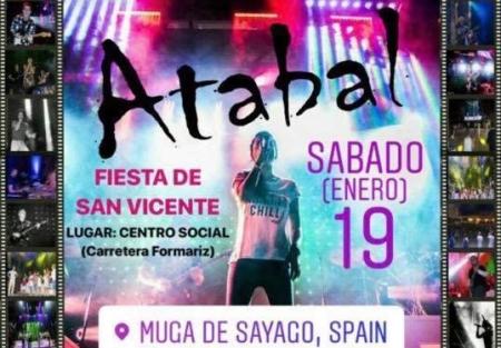 Cartel Fiesta de San Vicente en Muga