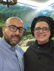 Mar Marcos y Rafa durante la grabación de ¡A la zamorana! en el Restaurante España de Fermoselle