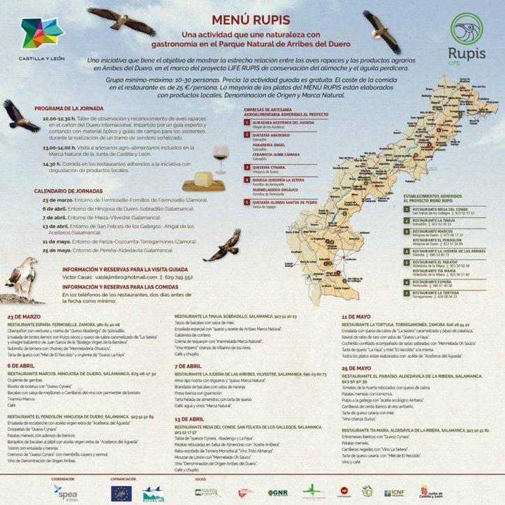 Menú Rupis, es una actividad que una la naturaleza con la gastronomía en el Parque Natural Arribes del Duero