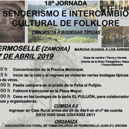 Cartel Jornada Senderismo y Folklore de Fermoselle