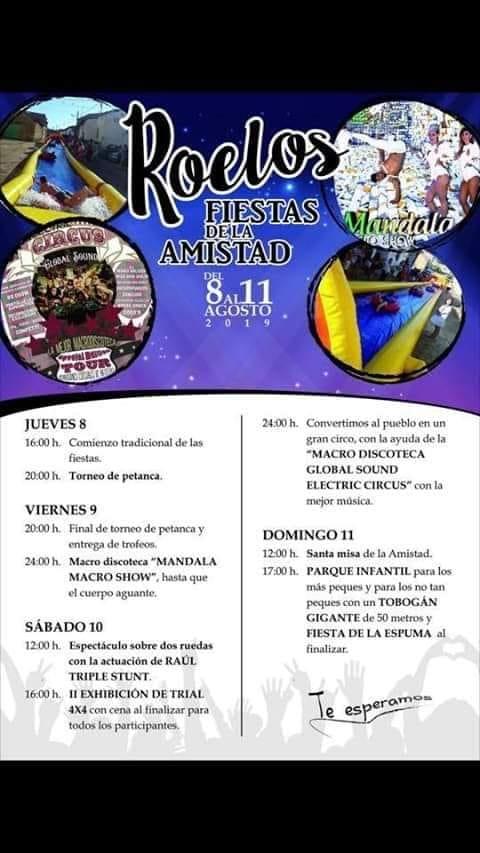 Cartel de las fiestas de la amistad de Roelos de Sayago