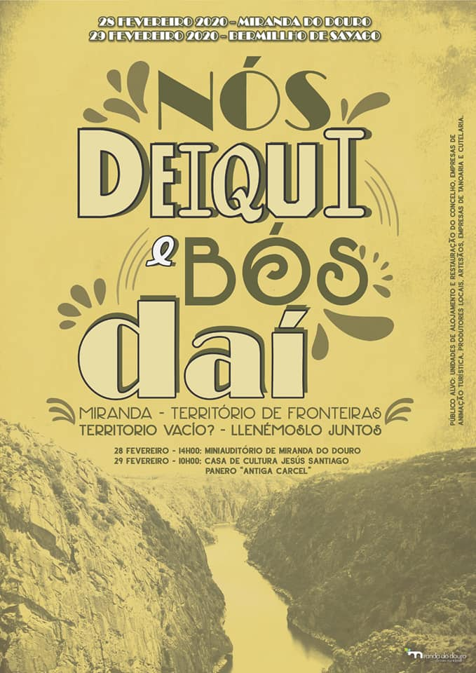cartel del simposium fronterizo miranda do douro bermillo