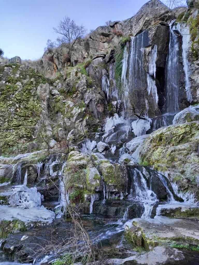 Cascadas de Abelón congeladas el 7 de enero de 2021 / Fotos: Felipe de Santiago