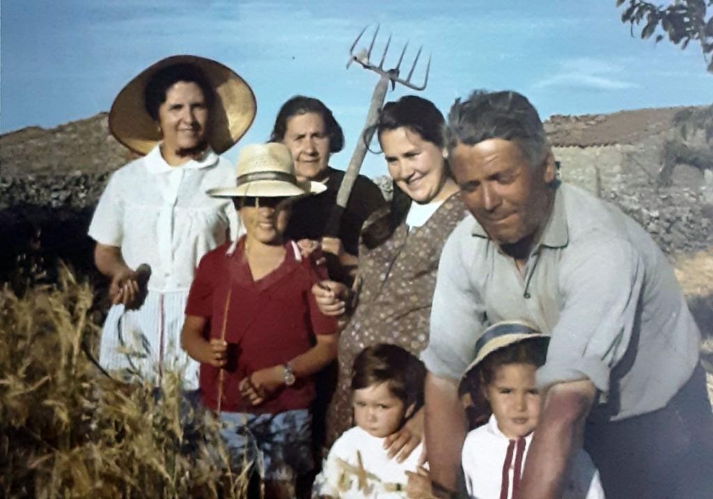 foto de miguel paniagua, el abuelo de sayago, tomada hace más de 50 años en Muga de Sayago / Cedida por José Domingo Alberca Paniagua